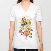 sailor venus V-neck T-shirts featuring Sailor venus by Sophira-lou