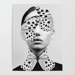 Woman Butterfly Poster