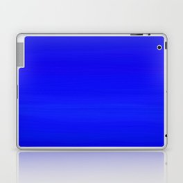 Solid Cobalt Blue - Brush Texture Laptop & iPad Skin