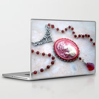 agate Laptop & iPad Skins featuring agate,agate cameo,gemstone by ira gora