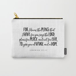 Jeremiah 29:11 - Bible Verse Carry-All Pouch