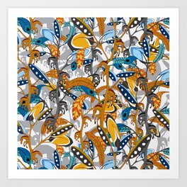 Horse feathers repeat Art Print