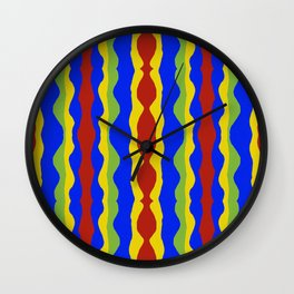 Haitian Ribbons  Wall Clock