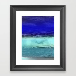 Midnight Waves Seascape Framed Art Print