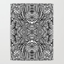 Zentangle 001 Poster