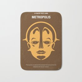 No052 My Metropolis minimal movie poster Bath Mat
