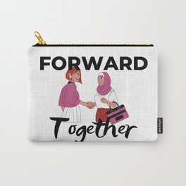 Forward Together- Women Handshake- Light Carry-All Pouch