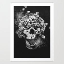 SKULL & ROSES I Art Print