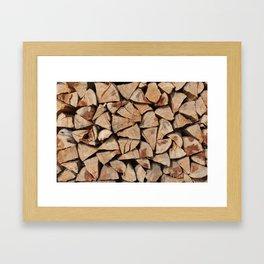 Stock for winter Framed Art Print