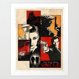 The man from U.N.C.L.E. Art Print