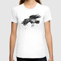 raven T-shirts featuring Raven by Olechka