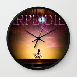 Our world is a magic -  Carpe Diem 3 Wall Clock