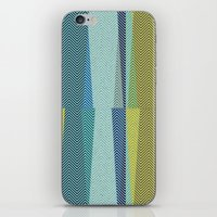 mid century iPhone & iPod Skins featuring Mid Century Herringbone 1 by David Andrew Sussman