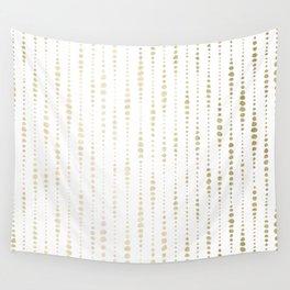 NYC Nights Gold Polka Dot Stripes Wall Tapestry