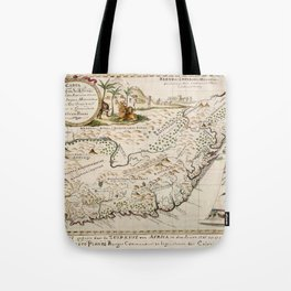 Map Of South Africa 1793 Tote Bag