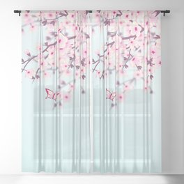 Cherry Blossoms Sheer Curtain