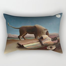 The Sleeping Gypsy by Henri Rousseau Rectangular Pillow