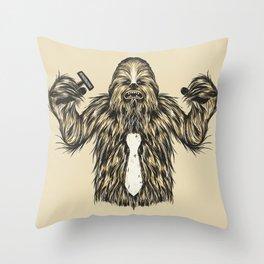 Chewie I Hate Mondays SW Throw Pillow