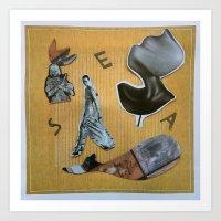 women at sea Art Print