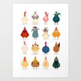 Cute Chicken Art Print