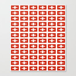 flag of Switzerland -,Swiss,Schweizer, Suisse,Helvetic,zurich,geneva,bern,godard,heidi Canvas Print