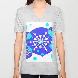 A Delightful Winter Snow Design Unisex V-Neck