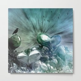 Like the first Morning, Scene with hearts Metal Print