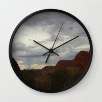 australia Wall Clocks featuring Australia by Mel Waldron