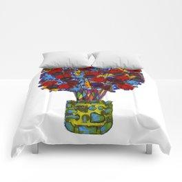 Geometric Flowers Comforters