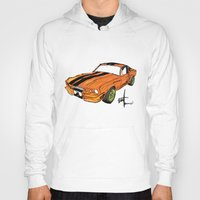 mustang Hoodies featuring Mustang by Portugal Design Lab