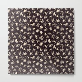 Pattern of hand-drawing flower. Metal Print