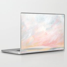 Overwhelm - Pink and Gray Pastel Seascape Laptop & iPad Skin