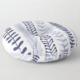 navy blue vines Floor Pillow