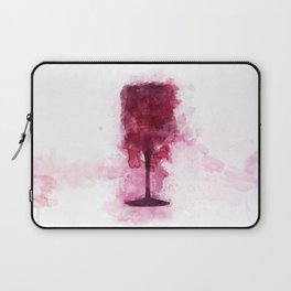 Wine Glass Watercolor Laptop Sleeve