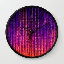 Syntax (Purple + Orange) Wall Clock