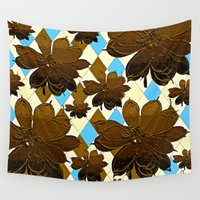 magnolia Wall Tapestries featuring Magnolia  by Saundra Myles