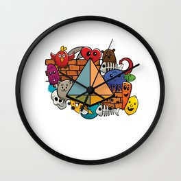 Isometric Triangles Shapes 3d Forms Tetrahedron Geometric Wall Clock