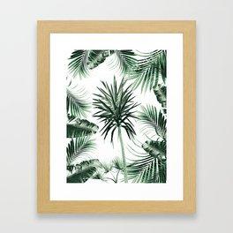 Tropical Summer Vibes Leaves Mix #2 #tropical #decor #art #society6 Framed Art Print