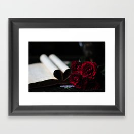 my love is like a red, red rose Framed Art Print