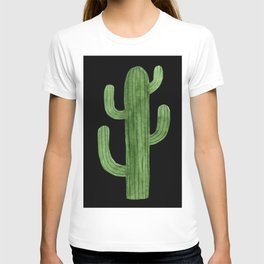 Cactus Solo on Black T-shirt