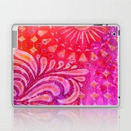 Joy in Orange and Purple Laptop & iPad Skin