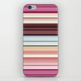 Sandwich cookie stripes iPhone Skin