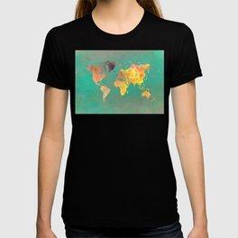 world map 103 #worldmap #map T-shirt