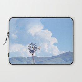 """Blue Windmill Blue Sky"" by Murray Bolesta Laptop Sleeve"