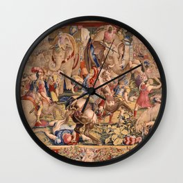 The Battle of Zama Wall Clock