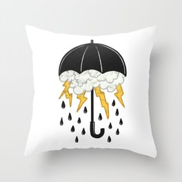 Umbrealla Storm Throw Pillow
