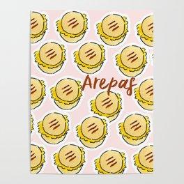 arepas - venezuelan food Poster