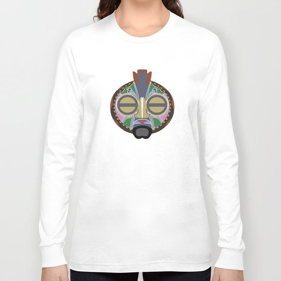 African Tribal Mask No. 6 Long Sleeve T-shirt