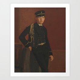 Edgar Degas - Achille De Gas in the Uniform of a cadet Art Print