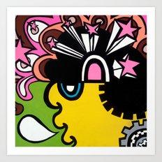 OPEN the PINK DOORWAY to YOUR MIND Art Print